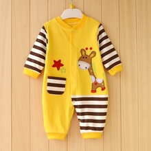 100% Cotton Newborn Baby Boy Clothes Baby Romper Next Roupa Bebes Newborn Babies Costume Autumn Winter Clothes Baby Clothing(China)