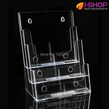 Three Tiers Magazine Display Catalog Holder Brochure Holder Multi-Compartment Literature Holder A4 PZG-010(China)
