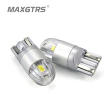 2x T10 168 194 W5W LED For CREE Chip Replacement Bulbs For Car License Plate Lights Parking Lights White/Blue/Red DC12V/24V