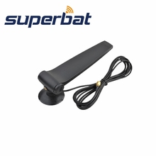 Superbat 2.4GHz 9dBi Directional WiFi Antenna Booster Wireless WLAN Aerial with RP-SMA Connector 3M Extension Cable Black Color(China)