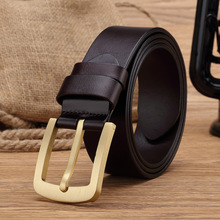 Buy Solid Brass Buckle Mens Belts Luxury Genuine Leather Vintage Buckle Men Belt Wide Belt Male Strap Ceinture Homme MBT0300 for $26.83 in AliExpress store