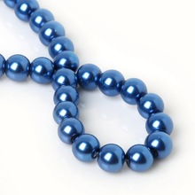 New Arrival Round Ball Loose 4mm 6mm 8mm 10mm Glass Pearl Spacer Beads Dark Blue For Fashion necklace Jewelry Making Craft DIY(China)