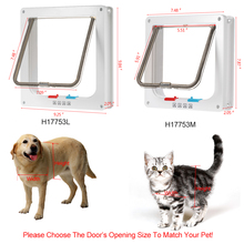 4-Way Locking Pet Door W/ Smart switches keep the house door Cat Puppy Dog Supplies Lock Lockable Safe Flap Gates go in/out free(China)