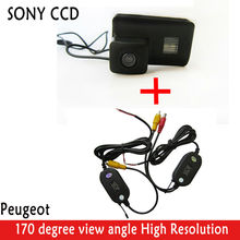 Wrieless HD SONY CCD Rearview Camera 420 lines 170 super wide view angle camera Color Backup car CAMERA for Peugeot PartnerTepee