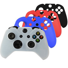 Camouflage Soft Silicone Rubber Protective Skin Case Cover For Microsoft Xbox One Game Controller Black White Red Blue(China)