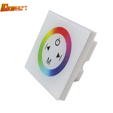 Wall LED Controller Touch Panel RGB Controller Dimmer For SMD 3528/5050 LED Strip DC12- 24V 12A