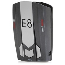 English/Russian Voice Prompt E8 Car Radar Detector 360 Degree Speed Control Road Safety Warner Cars Alarm Security System
