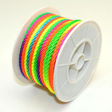1Roll wire 3mm 20 meters long Colorful rope Pearl rope rope line DIY accessories braided wire jade line wholesale