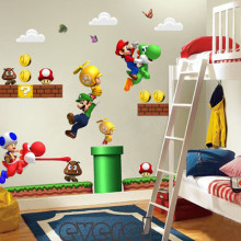 Cartoon Wall Sticker Super Mario Bros Kids Removable Wall Sticker Kids Nursery Decals Home Decor