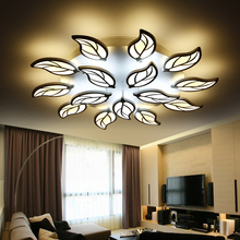 New Acrylic Modern Leaves led ceiling lights for living room bedroom indoor home Lighting ceiling lamp home lighting light fixtu