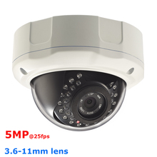 Full HD 2592*1920@25fps 5MP realtime Network IP Camera 1920P 5.0 Megapixel IPCamera Dome Security Camera 3.6-11mm heater optiona(China)