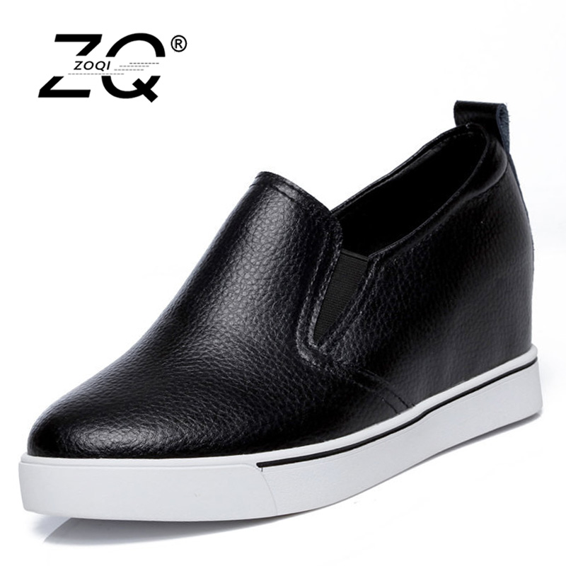 ZOQI Creepers Platform Shoes Platform Shoes Autumn Women Shoes Flats Women  Ladies Creepers Women Flats 2017 White Flats Autumn<br>