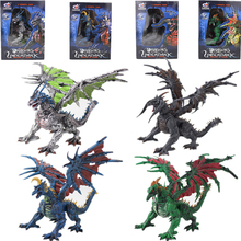 4pcs World Park Plastic Splicing 3D Hell Dragon Blocks Kids  Action Figure Collectible Model Toy new Year's gift