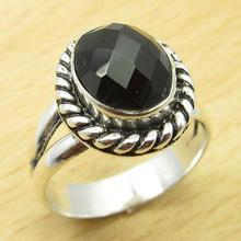 MAN'S Ring,  Silver Overlay Beautiful BLACK ONYX JEWEL Jeweller Size US 7 NEW
