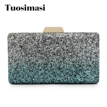 women mini fashion luxury clutch ladies bling evening purse famous designer new sparkly crossbody shoulder messenger bags(China)