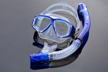 Three-piece snorkeling, fog myopia goggles full dry snorkel equipment package latent adult swimming goggles Professional(China)