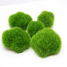 Miniature Artificial Moss Plant Long Plush Stone Micro Landscaping Home Garden Decor Wedding Decoration  Craft DIY Accessories
