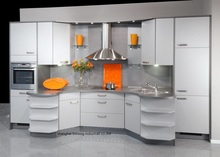 melamine/mfc kitchen cabinets(LH-ME072)(China)