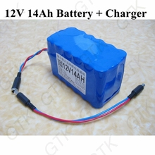 12v 14ah rechargeable battery 12v lithium battery for remote control bait fishing boat rc lure fish boat audio equipment+charger(China)