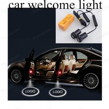 Projector Lamp 2PCS/lot Led Auto Logo Emblem Laser Lamp LED Car Door Step Ghost Shadow Welcome Light For GMC free shipping