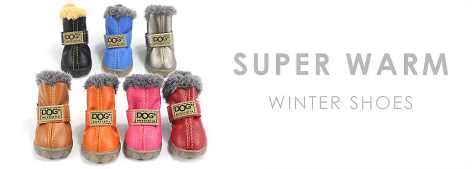 Pet Dog Waterproof Shoes Winter Super Warm 4pcs set Dogs Boots Cotton Anti Slip XS 2XL Shoes for Small Pet Product ChiHuaHua