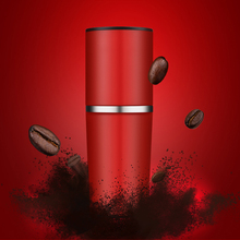 2016 new Portable Hand red coffee pot Multifunction Small Coffee machine Hand Grinding filter Accompanied by coffee cup(China)