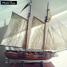Ship Model Kit DIY Educational Games For Grownups Wooden Ship Model Laser Cut Scale 1/60 Blackbeard's Pirate Ships Adventures(China)