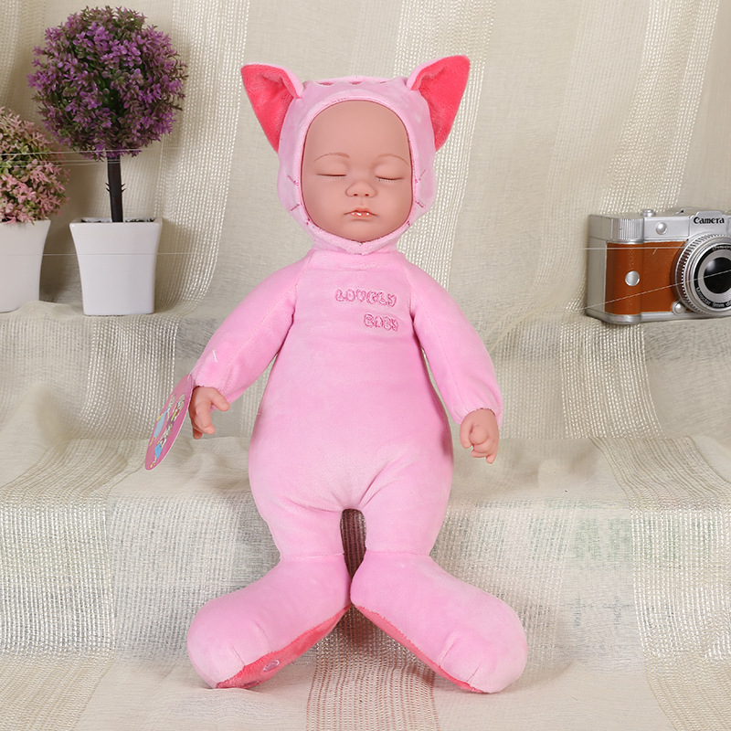 NEW  35cm Vinyl Reborn Babies Dolls Sounder with Baby Accompany Sleep Plush Simulation Baby Doll Toys for Baby Kids Best Gifts<br><br>Aliexpress