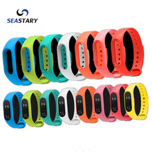 Xiomi Mi Band 2 Silicone Wrist Strap Bracelet Double Color Replacement watchband for Xiaomi band 2 Wristbands 12 Color xiaomi 2