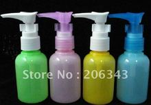Free shipping:50ml pet colorful duck mouth lotion bottle or bird mouth shape shampoo bottle used for cosmetic bottle