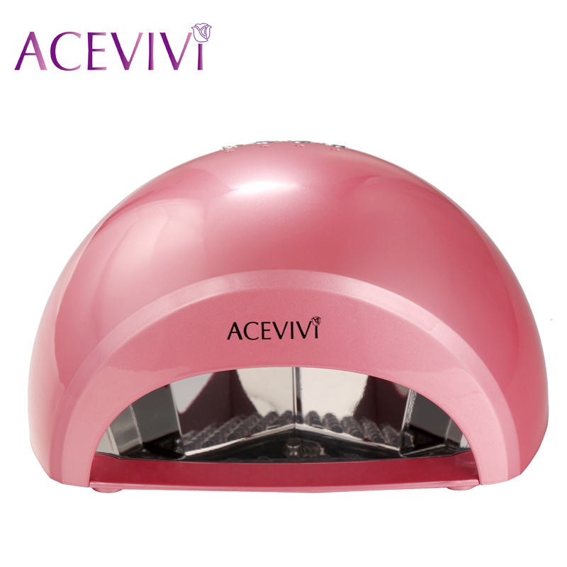 Acevivi Professional 12W LED Nail Dryer UV Lamp Nail Manicure Machine Fast Drying Polish Curing Nail Gel Art Tools US Plug U2<br>
