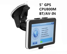 HOT! 5 inch Car GPS Navigation Sat Nav CPU800M Wince6.0+Bluetooth AV-IN+128M/4GB+FM Transmitter+Multi-languages+Free latest Maps(China)