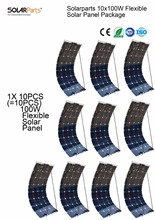 Solarparts 10x 100W flexible solar panel 12V high efficiency solar cell yacht boat marine RV solar module battery charge cheap(China)