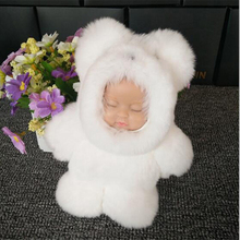 2017 new Rex Rabbit fur hang sleep of bag accessories toy doll plush dolls hang act the role of plush toys Sleep baby