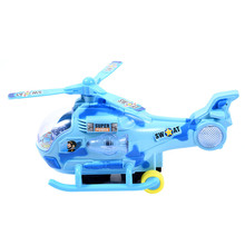 2017 New Universal Electric Vehicle 3D Light&Music Helicopter Model Toy Vehicles Electronic Car For Kids Gift Helicopter Toy