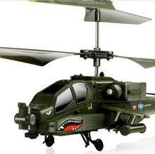 Syma S109s Army green color Simulation Military RC Helicopter Radio Remote Control LED light Aircraft Fly Toy for children(China)