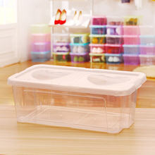 Transparent Plastic Shoe Box Double Love Heart Thickened Storage PP material Organizer For Men And Women 2017 New High Quality