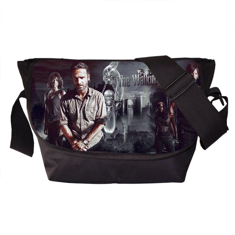 Tv Show The Walking Dead Young Men Women Messenger Bag Daryl Dixon Travel Bag Rick Shoulder Bags School Bags For Teenagers<br><br>Aliexpress