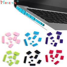 Factory price Hot Selling High Quality MOSUNX 9pcs Silicone Anti Dust Plug Ports Cover Set For Macbook Mfeb14  Drop Shipping