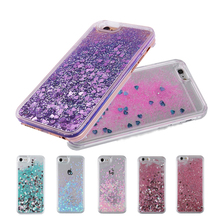 Dynamic Liquid Glitter Sand Quicksand Star Bling Case Cover For Apple iPhone 6 6s plus 6 plus 5 5S SE 4 4s Cell Phone Cases(China)