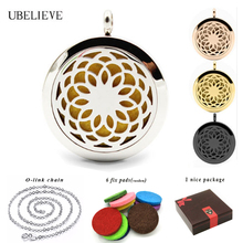 Top Quality Perfume Locket 316L Stainless Steel Essential Oil Aromatherapy Diffuser Locket Pendant Necklace(send chain as gift)(China)