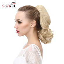 SARLA 10pcs/lot Wavy Synthetic Ponytail Hair Extension Heat Resist High Temperature Natural Claw In Hairpiece P004