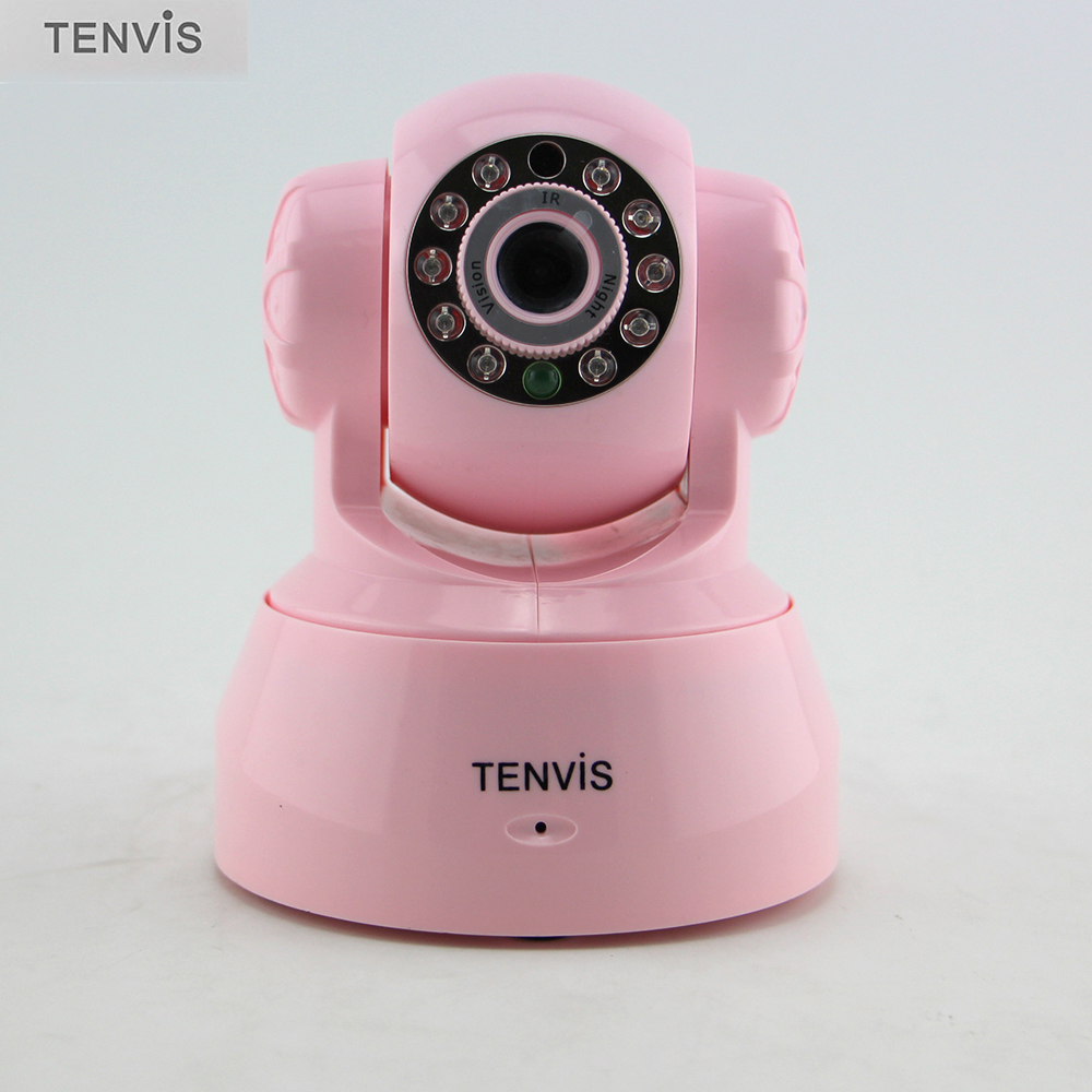 TENVIS JPT3815W Fake Camera Indoor Dummy Cam CCTV Surveillance Camera 10 LED for Home Security Pink<br><br>Aliexpress
