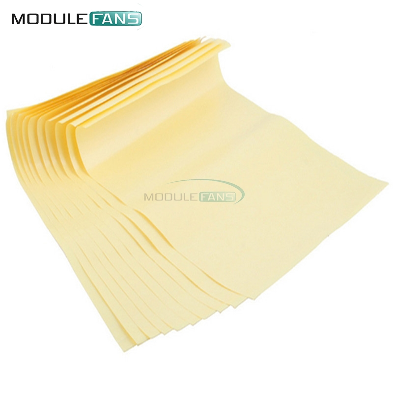 Useful 10pcs A4 Toner Heat Transfer Paper Yellow For Diy Pcb Electronic Prototype Mark Top Quality Integrated Circuits