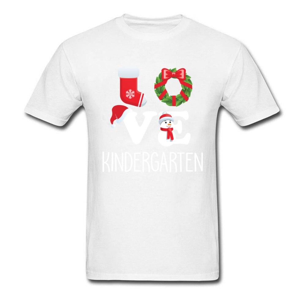 Love Kindergarten Shirt Teacher Christmas Gift_white