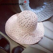 Nuevo verano sombreros para las mujeres Chapeau Femme perla dulce sol  sombrero playa sombrero sombrilla capeu c1c957d36bc