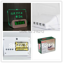 20 pcs Quieten lounged multifunctional luminous neon message board clock electronic clock projection alarm(China)