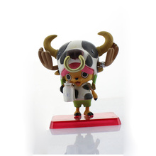 One Piece Tony Tony Chopper Toy Figure Film Z Milk Cow Style Chopper PVC Figures Collection Model 8CM 5Pcs/lot Free Shipping
