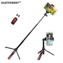 Easttowest Multifunctional Shutter Self-timer Monopod Bluetooth Selfie Stick for iphone 7 6s 5 Samsung IOS Android Action Camera
