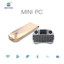 Mini PC HDD Player + Mini Keyboard desktop computer windows10 Fanless Zero Noice Bluetooth Light Weight Nice Design